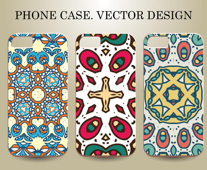 Telefonfall Vektor ESP10 dekorativa element royaltyfri illustrationer