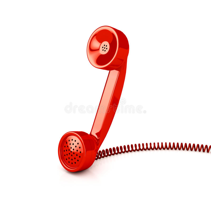 Telefongefäß über Weiß stock abbildung