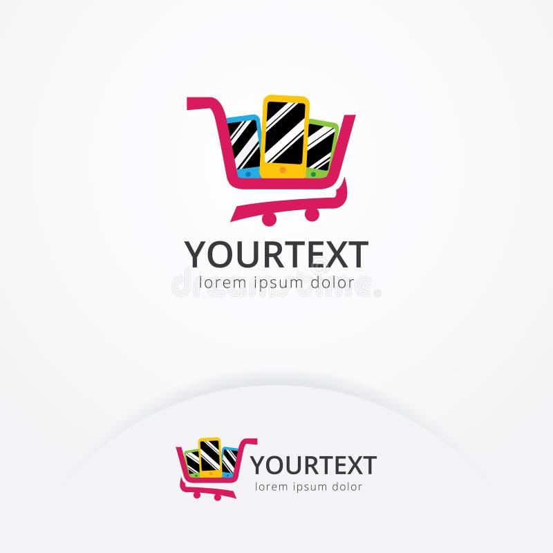 Telefongeschäfts-Logoentwurf vektor abbildung