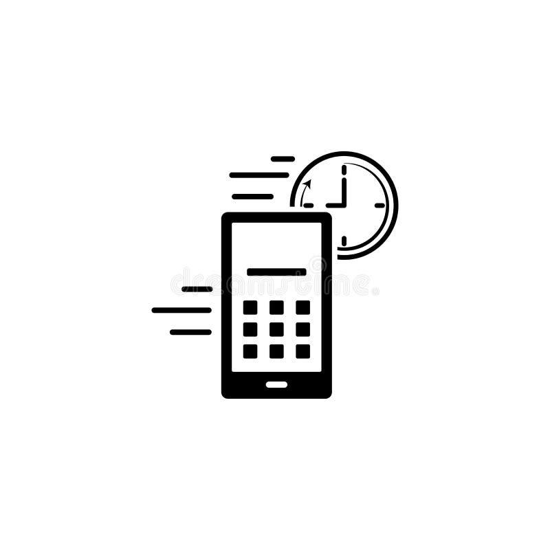 Telefongeschwindigkeitsikone Element der Geschwindigkeitsikone für bewegliche Konzept und Netz apps Ausführliche Telefongeschwind lizenzfreie abbildung
