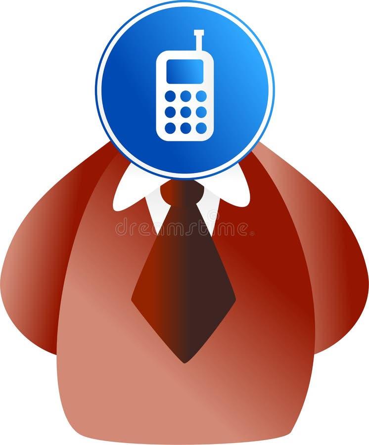 Telefongesicht lizenzfreie abbildung