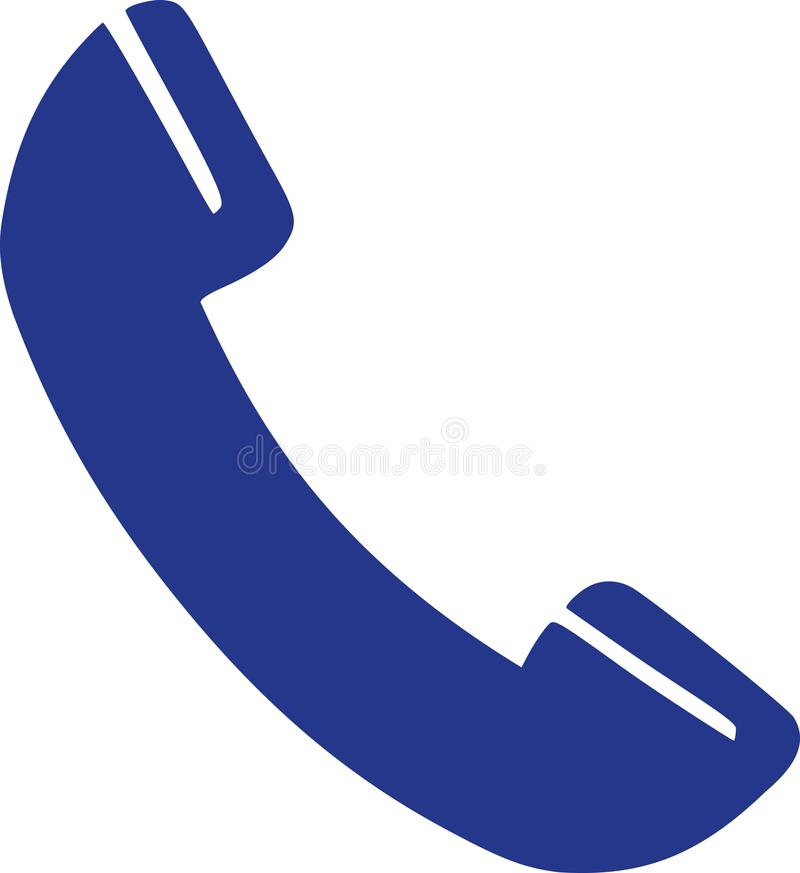 Telefonhörerikone stock abbildung