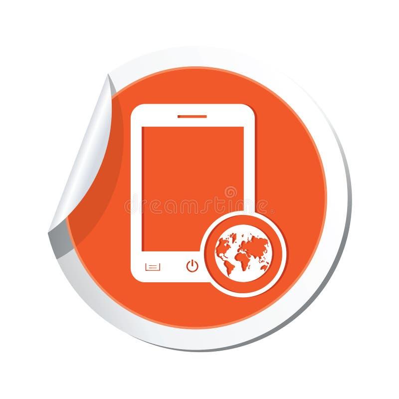 Telefoni con l'icona del menu della mappa sull'autoadesivo royalty illustrazione gratis