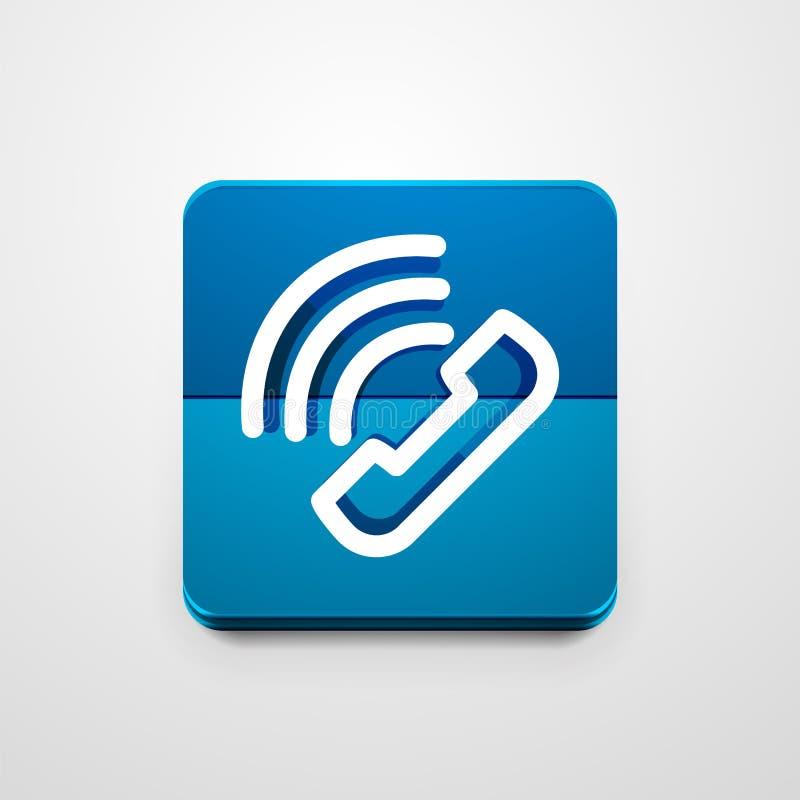 Telefoni il bottone, l'idea di sostegno di chiamata, illustrazione di vettore illustrazione vettoriale