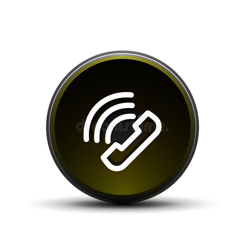 Telefoni il bottone, l'idea di sostegno di chiamata, illustrazione di vettore royalty illustrazione gratis