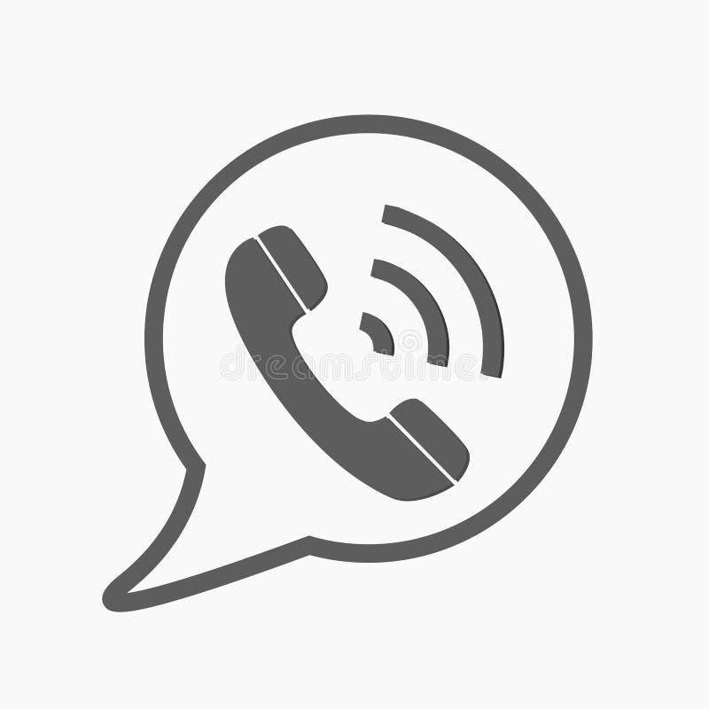 Telefoni il vettore dell'icona, il contatto, la call center, segno di servizio di sostegno isolato su fondo bianco Telefono, comu royalty illustrazione gratis