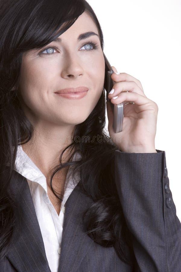 Telefoni la donna fotografia stock