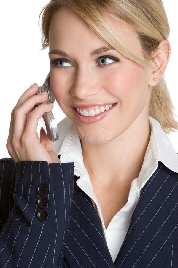 Telefoni la donna di affari immagine stock libera da diritti
