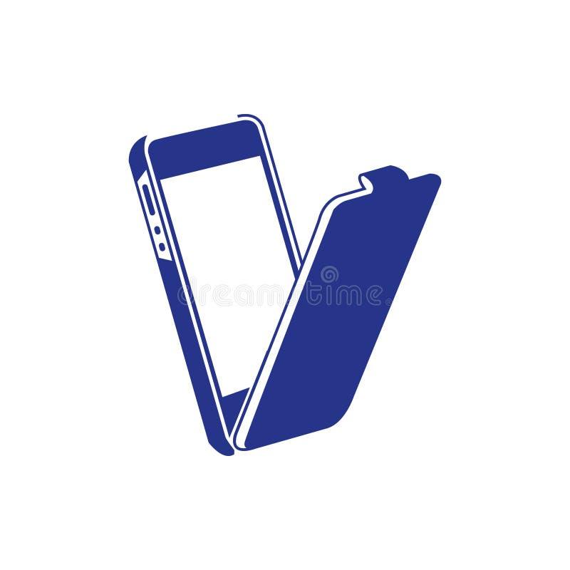 Telefoni lo stile piano di progettazione dell'illustrazione di vettore delle azione dell'icona del touch screen illustrazione di stock