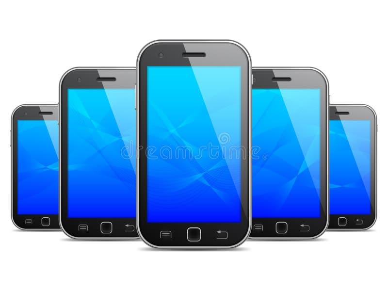 Telefoni mobili illustrazione vettoriale