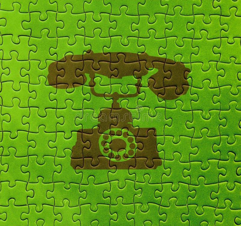 Telefoni su struttura di puzzle illustrazione vettoriale