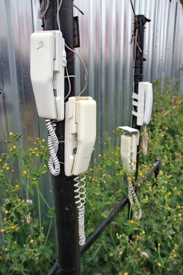 Telefoni sulla via a Costantinopoli fotografie stock libere da diritti