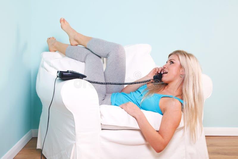 telefoniczna kobieta zdjęcie stock