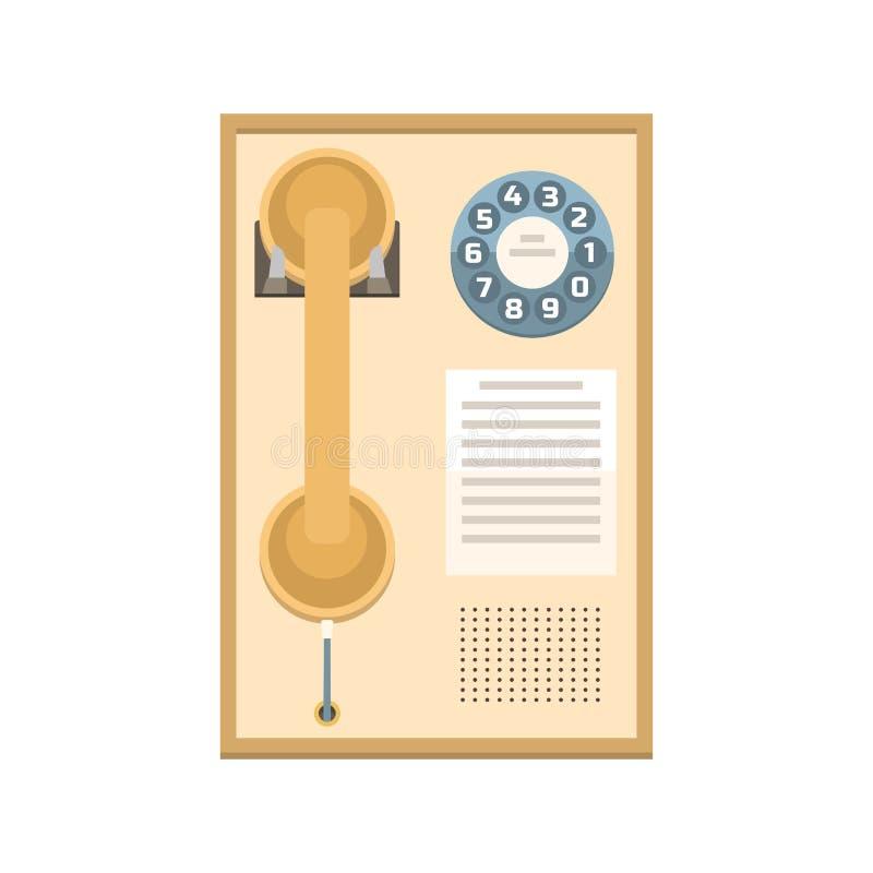 Telefoniczna rocznika wektoru ikona royalty ilustracja