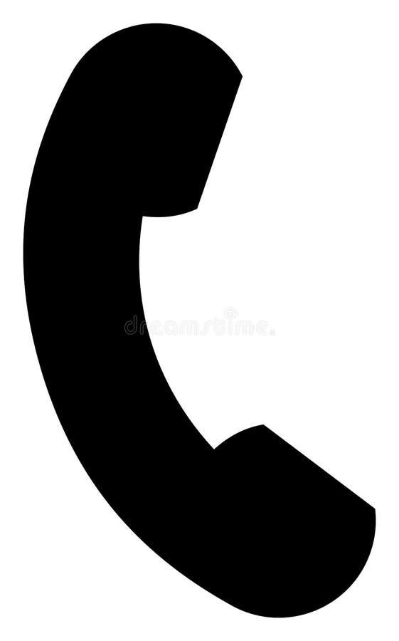 Telefonicznego handset sylwetki ikona Wektorowa ilustracja odizolowywaj?ca na bielu ilustracja wektor