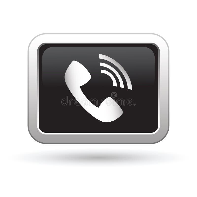Telefonicznego odbiorcy ikona na guziku ilustracja wektor