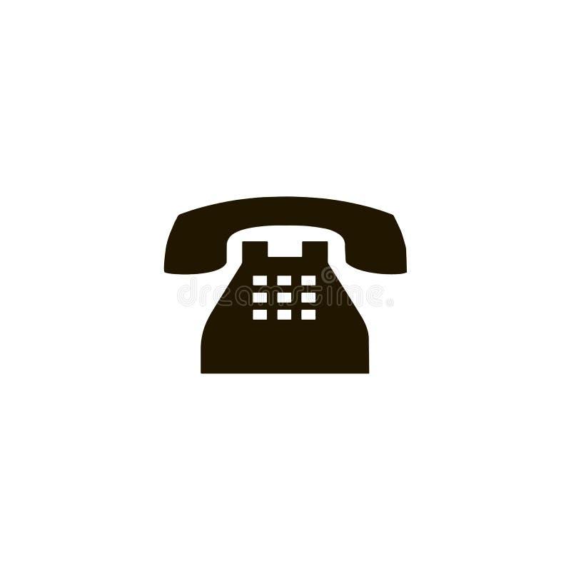 Telefonicznego reciver wektorowa ikona, płaskiego projekta najlepszy wektorowa ikona Czarna telefon ikona w mieszkanie stylu na b royalty ilustracja