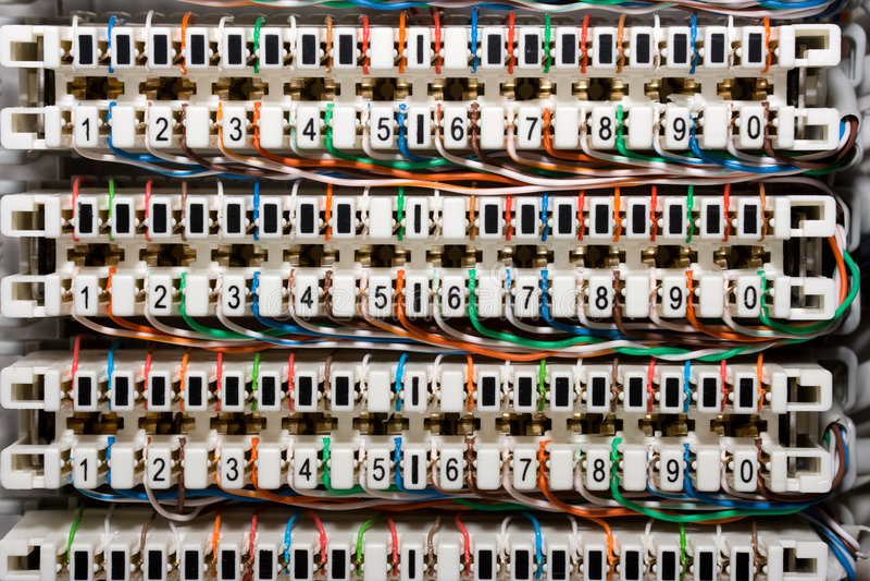 telefoniczni panel druty zdjęcia stock