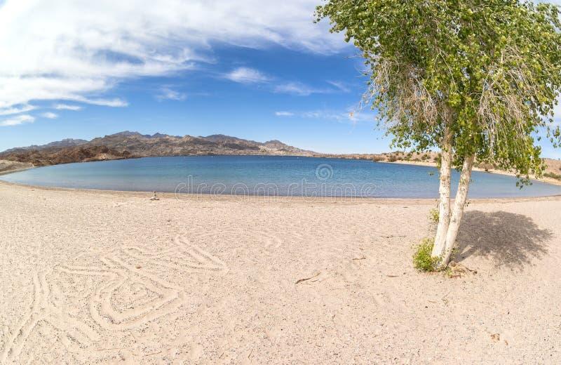 Telefoniczni zatoczki Arizona południe, Jeziorny Mohave zdjęcia royalty free