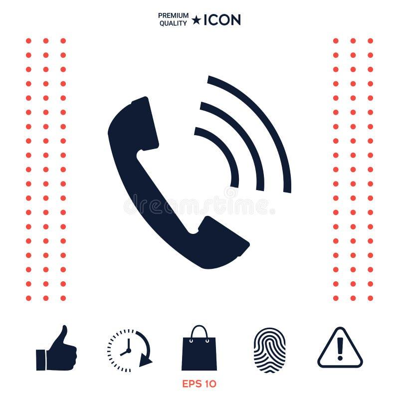 Telefoniczny handset, telefonicznego odbiorcy ikona ilustracja wektor