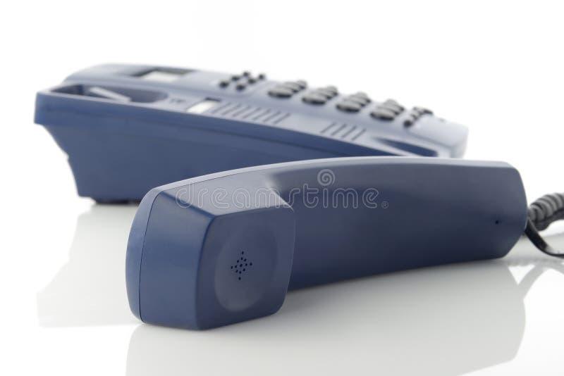 Telefoniczny odbiorca Nad bielem obrazy stock