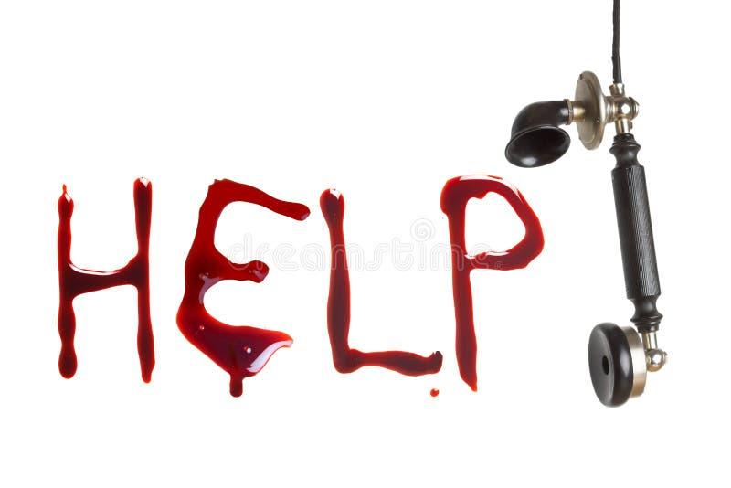 Telefoniczny wołanie o pomoc obraz stock