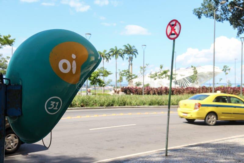 Telefoniebetreiber Oi, von Brasilien, hat Schulden von BRL 65 billio 4 lizenzfreies stockfoto