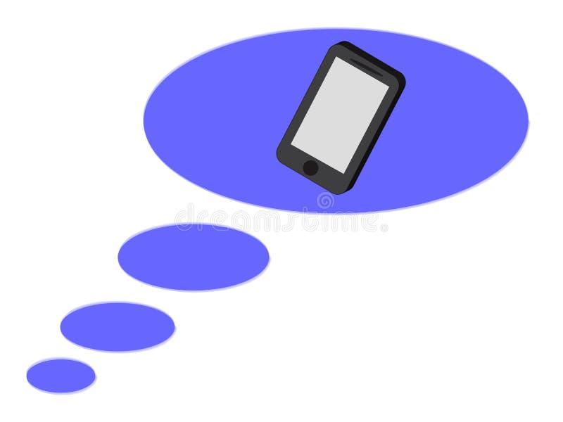 Telefonikone in der blauen Blase stockfotografie
