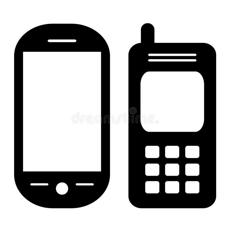 Telefonikonen eingestellt vektor abbildung