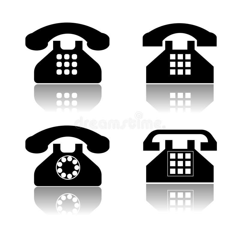 Telefonikonenansammlung lizenzfreie abbildung