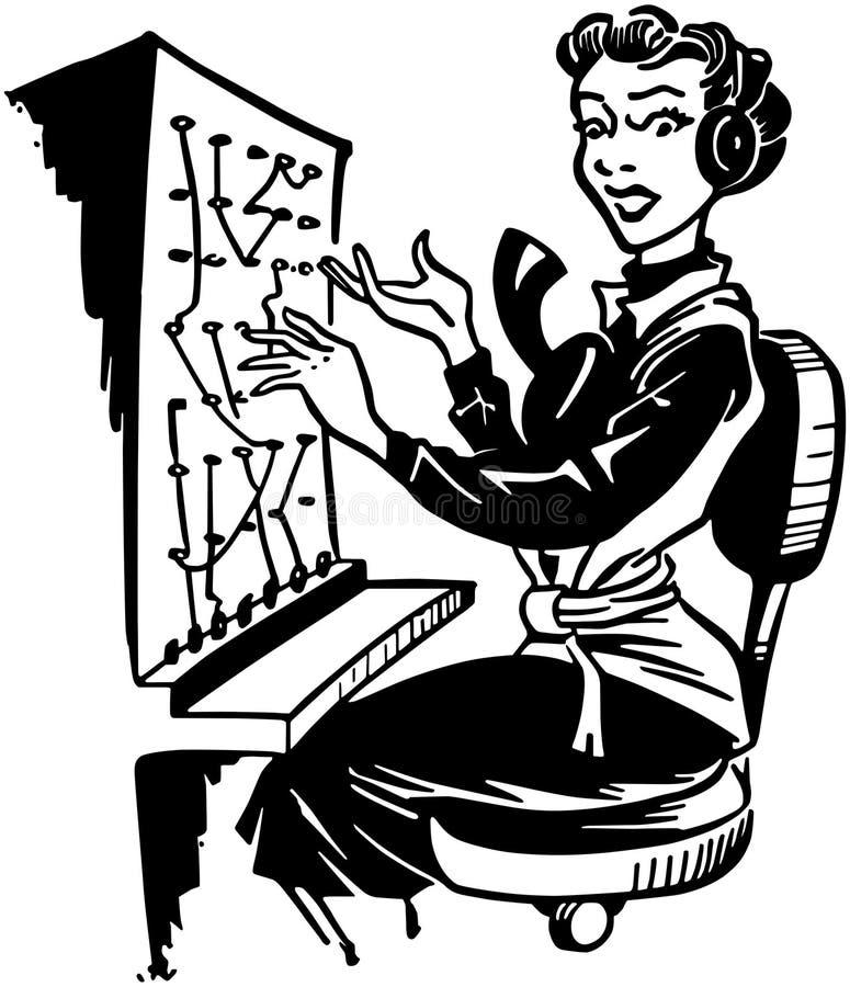 Telefonistin stock abbildung
