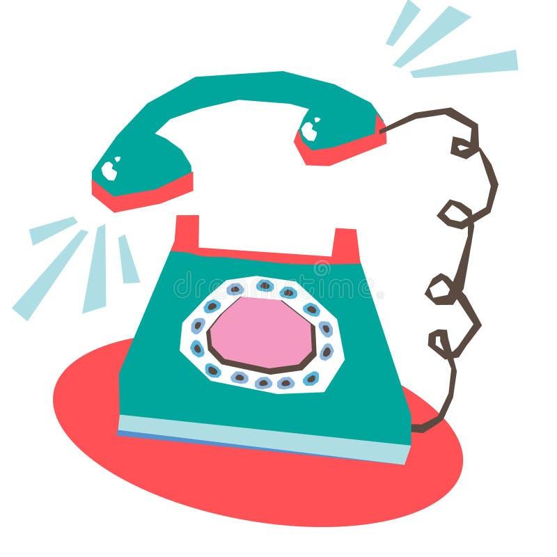Telefonklingeln stock abbildung