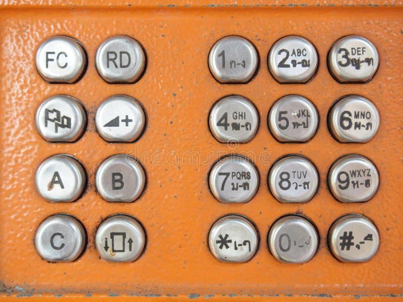 Telefonknappar arkivfoton