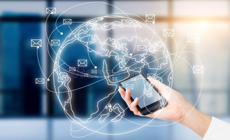 Telefonkommunikation stock abbildung