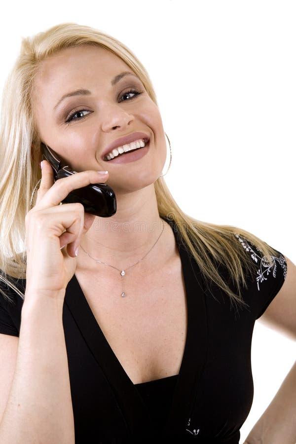 telefonkvinna arkivbilder