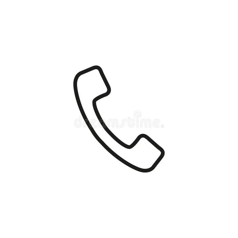 Telefonlur av symbolen stock illustrationer
