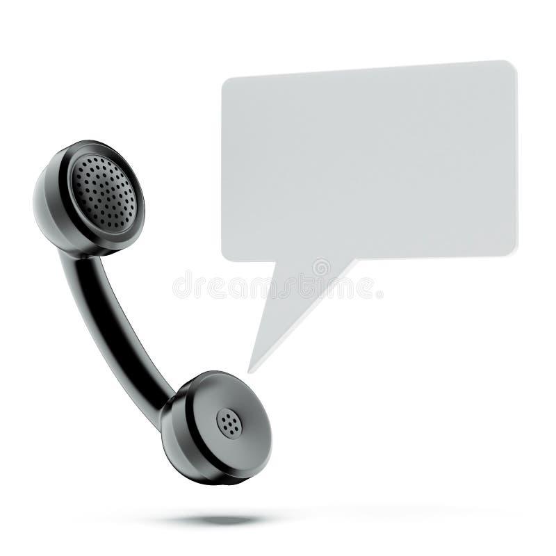 Telefonlur med pratstundbubblan royaltyfri illustrationer