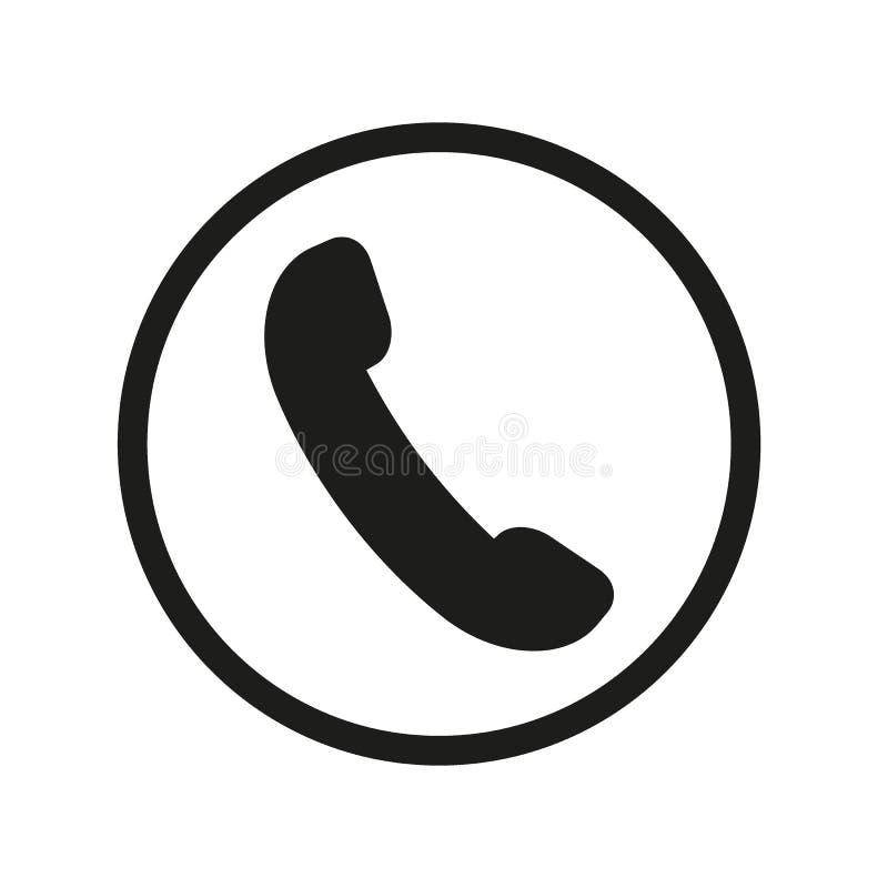 Telefonlur med v?gor, symbol, symbol ocks? vektor f?r coreldrawillustration 10 eps stock illustrationer