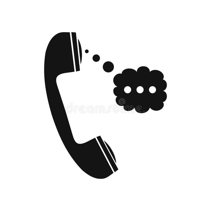 Telefonlur och anförandemoln royaltyfri illustrationer