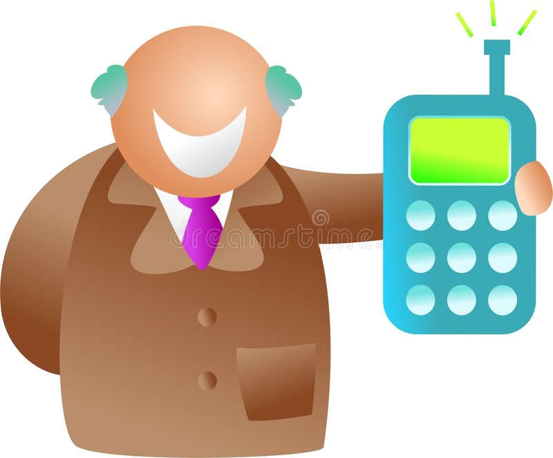 Telefonmann vektor abbildung