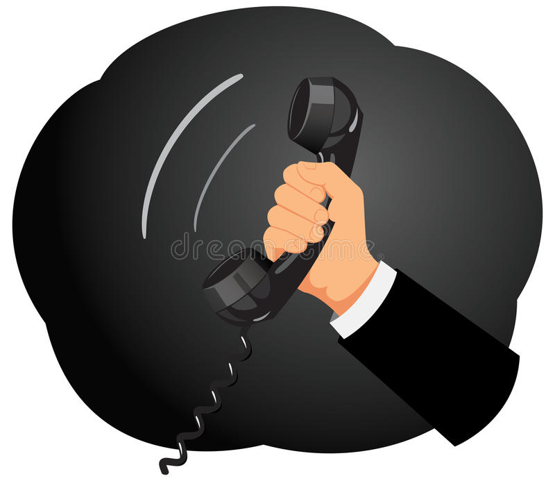 Telefonmottagare stock illustrationer