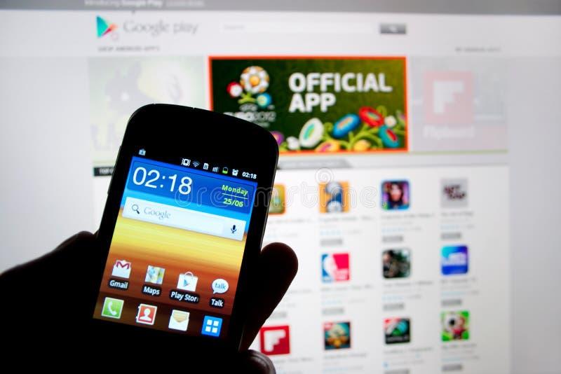 Telefono astuto della galassia di Samsung fotografie stock libere da diritti