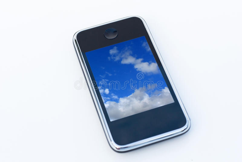 Telefono astuto a disposizione fotografie stock libere da diritti