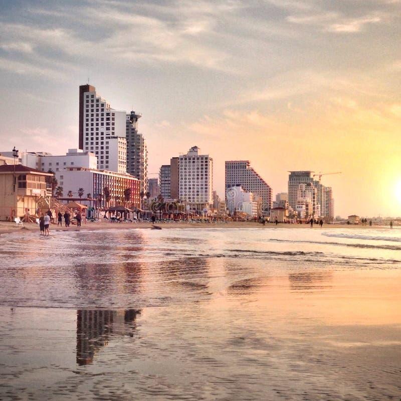Telefono Aviv Beach immagini stock libere da diritti