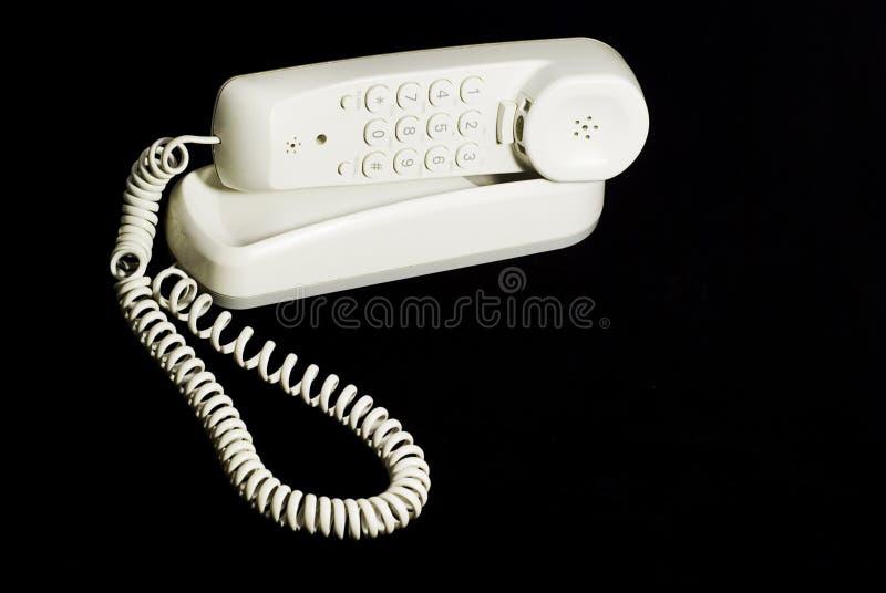 Telefono bianco fotografia stock libera da diritti