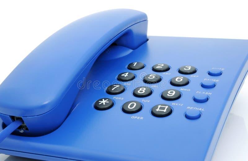 Telefono blu fotografia stock