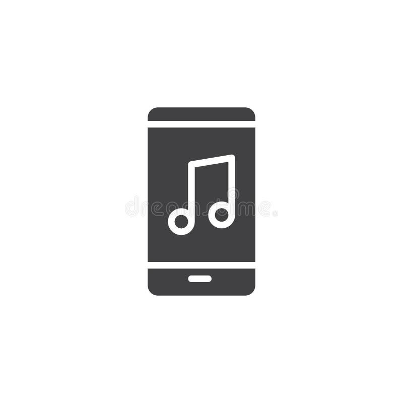 Telefono cellulare con l'icona di vettore della nota musicale royalty illustrazione gratis
