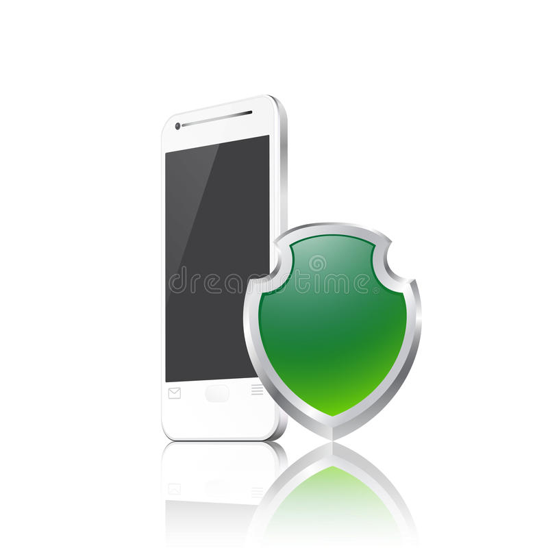 Telefono cellulare con lo schermo royalty illustrazione gratis