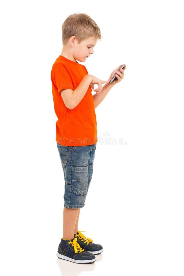 Telefono cellulare del ragazzo fotografia stock libera da diritti