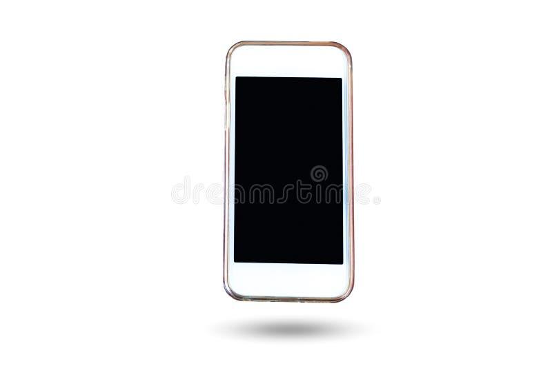 Telefono cellulare e Smart Phone nel fondo isolato immagine stock libera da diritti